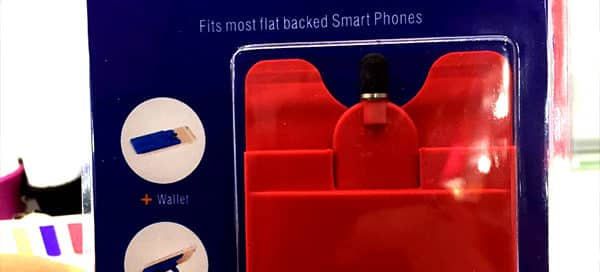 Stand and Stylus Silicone Phone Wallet as a Promotional Gift
