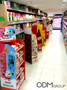 Christmas POS Displays - Excellent Examples by Global Chocolate Brands