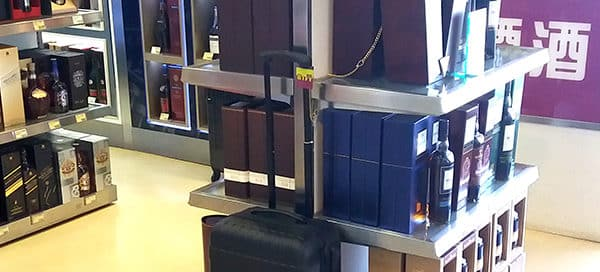 Drinks Promotions – GWP Trolley bag in Singapore's Duty Free