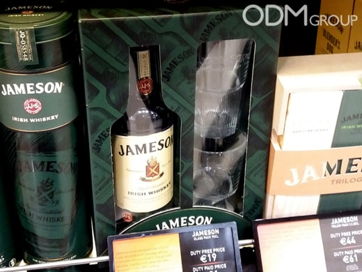 On-Pack Glasses Promo Gift by Jameson Irish Whiskey