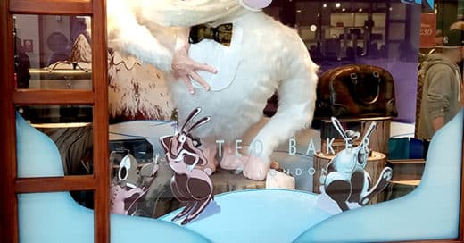 Visual display idea – Ted Baker's Abominable Showman