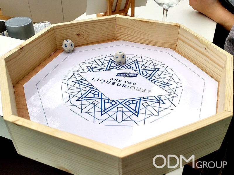 Drinks Promo Idea - Branded Dice Rolling Game by Marie Brizard