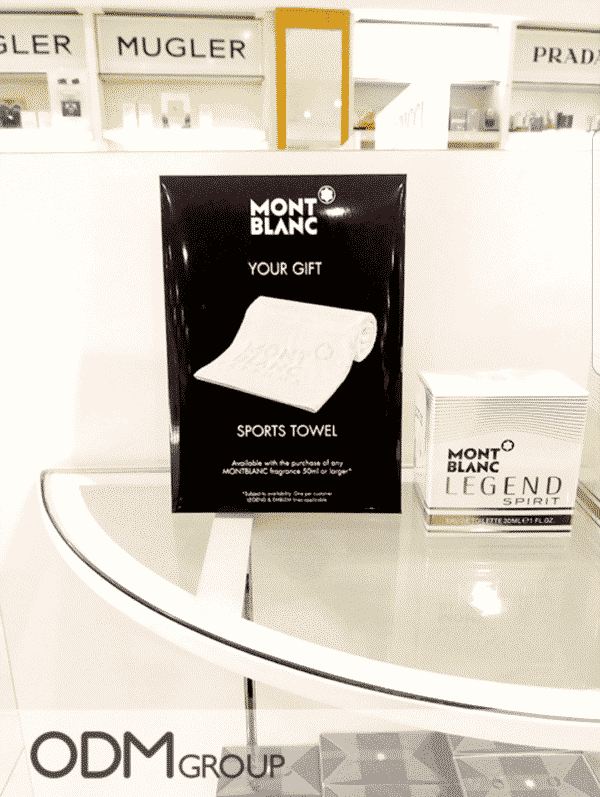 Branded Sports Towel - Montblanc Promo Gift in UK