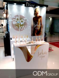 Perfume POS Display by Dior in Hong Kong