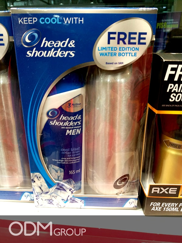 Branded Water Bottle Flask Gift With Head&Shoulders Shampoo