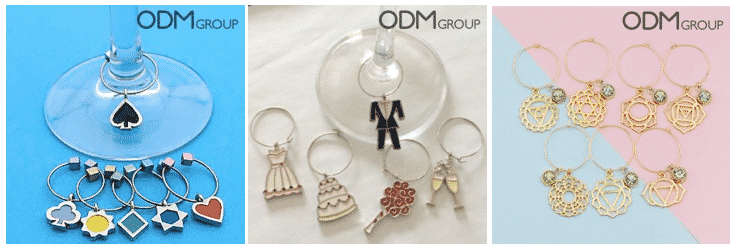 Grab Customers' Attention with Pretty Promotional Wine Charms