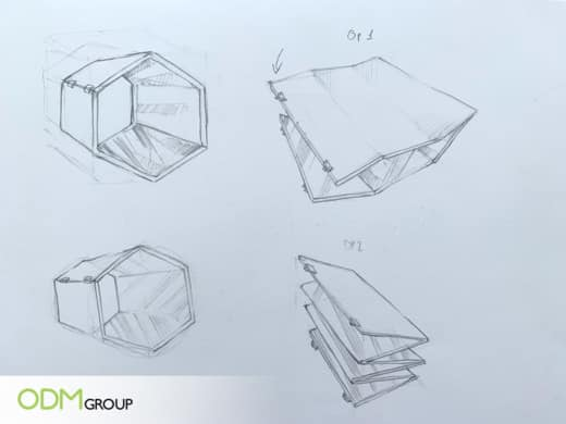 Kaleidoscope Display Promotes Social Media Sharing: Sketches by Design Team