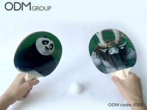 Designing Merchandise for Movies: Kung Fu Panda Ping Pong Paddles
