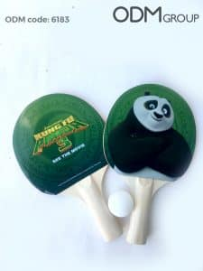 Designing Merchandise for Movies: Kung Fu Panda Ping Pong Paddles