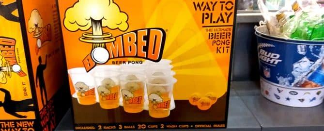 Branded beer pong set