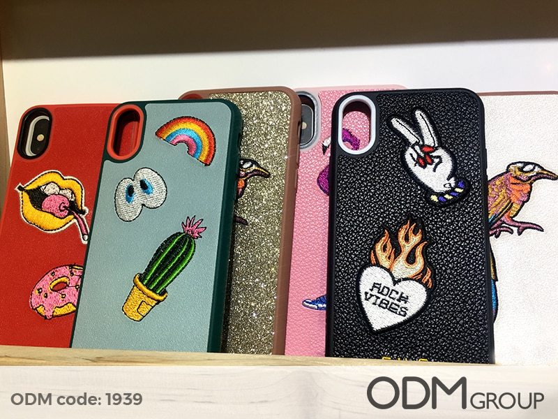 Custom Phone Cases with Embroidered Logo