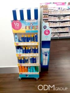 cosmetics POS display nivea 2