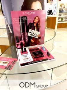 cosmetics POS display Lancome