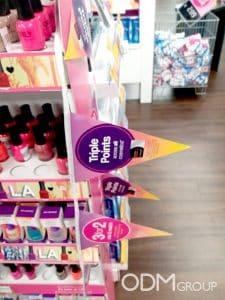 cosmetics POS display orly