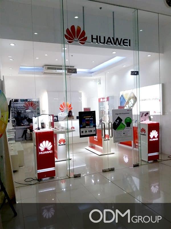 mobile POS display huawei