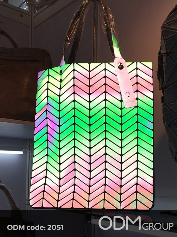 Unique Custom Bag Design Flashing and Geometric