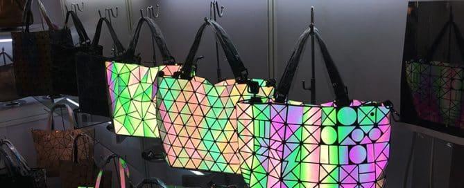 Unique Custom Bag Design: Flashing and Geometric