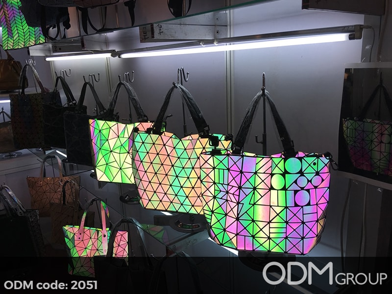 Unique Custom Bag Design: Flashing and Geometric