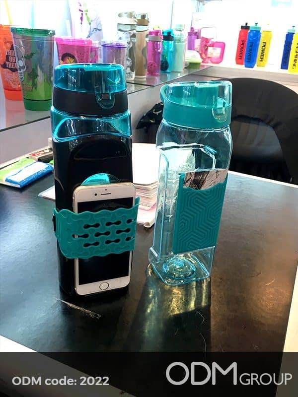 custom water bottle phone holder