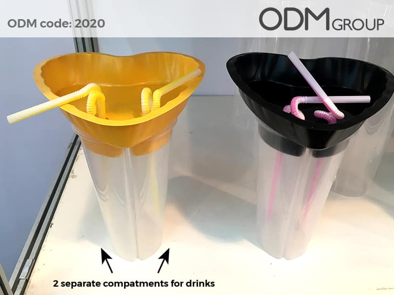 Promotional Drinking Cups With Snack Trays