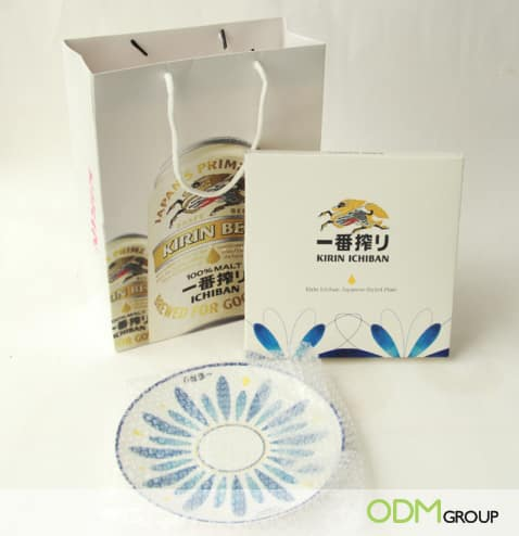 Custom Ceramic Plate as Kirin Beer GWP Practical Gift for Beer Promos