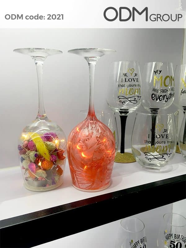 Custom Wine Glass with Light Unique & Effective Marketing Gift