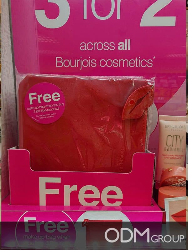 Marketing Budget - GWP Makeup Bag by Bourjois for In Store Promotion