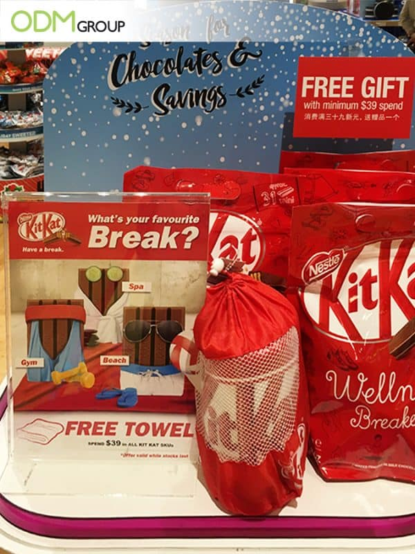 Promotional Towel as GWP by Kit Kat A Timeless Marketing Gift