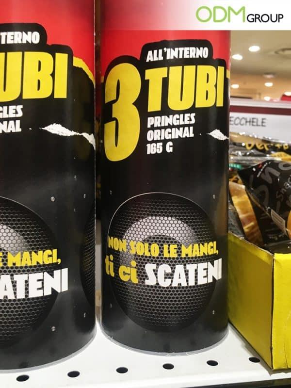 Unique Retail Marketing Idea by Pringles DIY Promotional Speaker