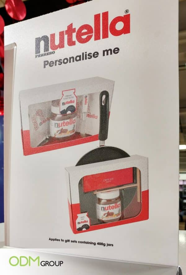 Nutella Personalize Me On-Pack Gift Sets- Maximizing Brand Impact