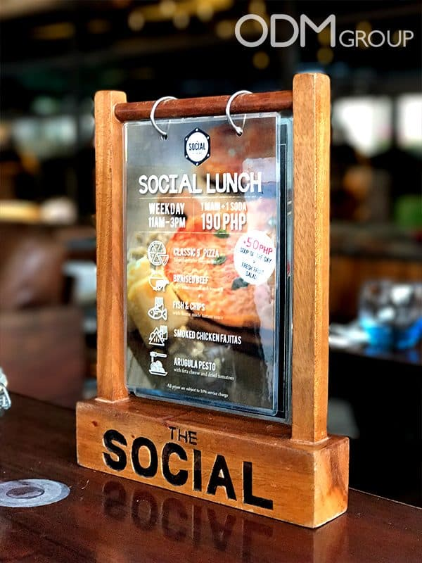 Custom Wooden Menu Stand for Restaurants