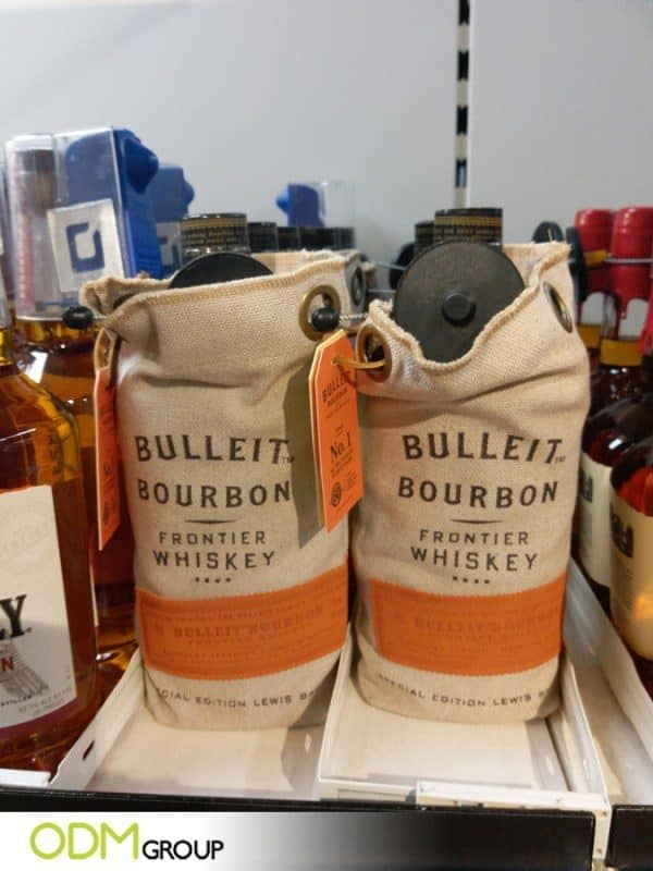 Drinks Packaging Design: Canvas Bottle Wrap by Bulleit Stirs Interest