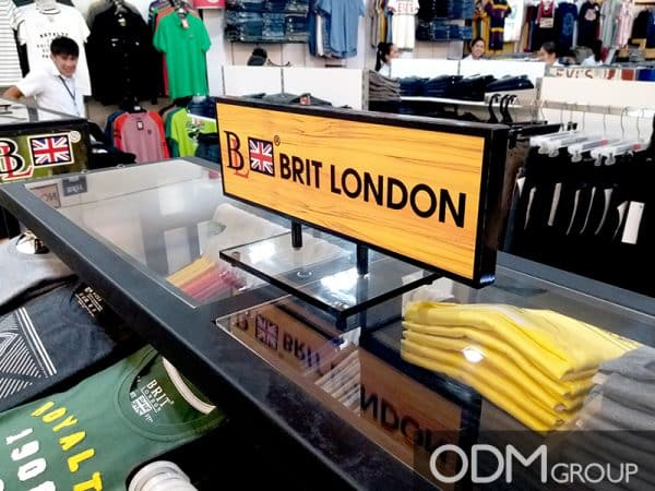 Retail Sign Ideas: Why We Like Brit London's Custom Shelf Signage