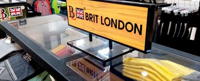 Retail Sign Ideas: Why We Like Brit London's Custom Shelf Signage