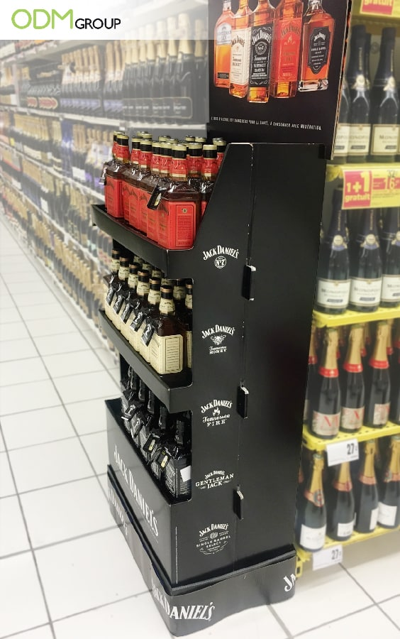 Brand Promotion: Cardboard POS Display by Jack Daniels