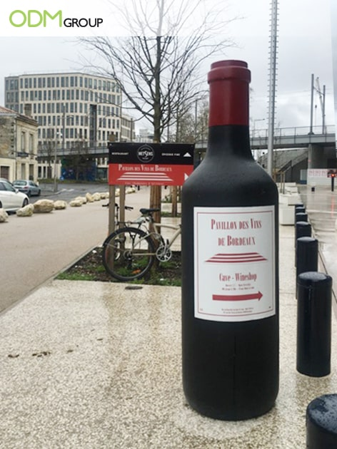 Brand Promotion: Inflatable Wine Bottle Display in France