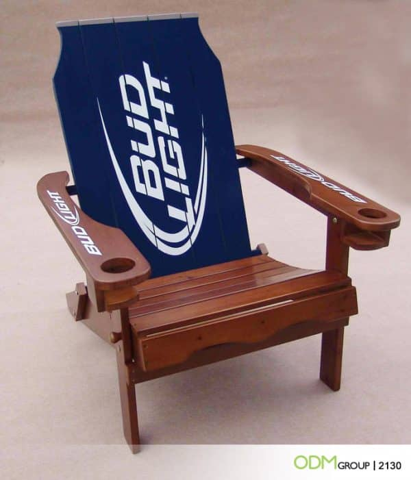 Promotional Chair with Beer Shaped Back: Unique Design Sparks Interest