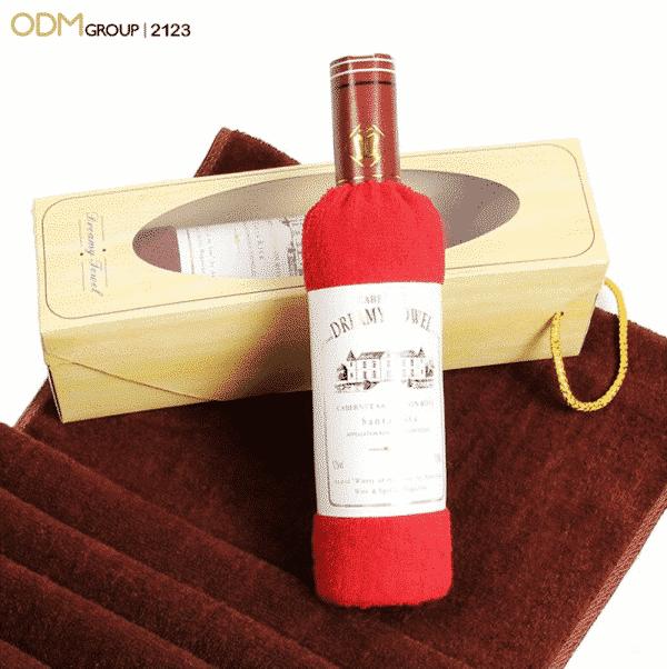 Promotional Wine Gifts Design Kitchen Towel In Wine Bottle Shape