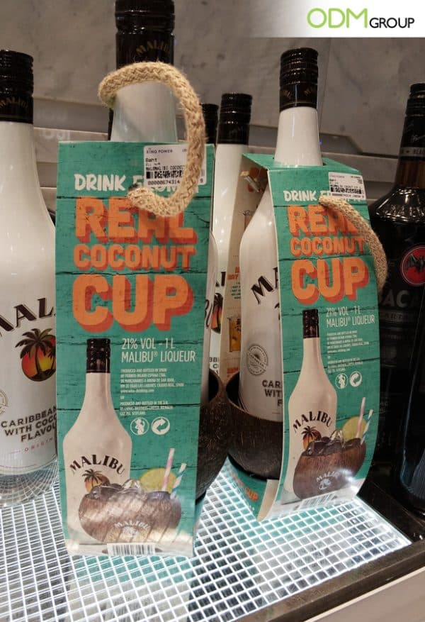 Brand Exposure: Unique Promotional Coconut Cup from Malibu