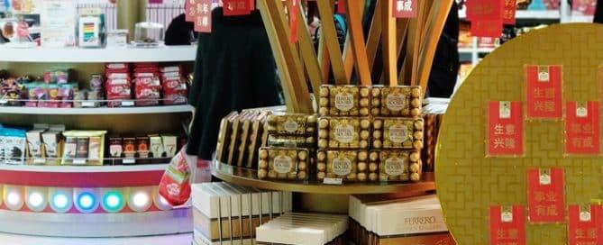 Ferrero Attracts Customers with CNY Custom POS Display