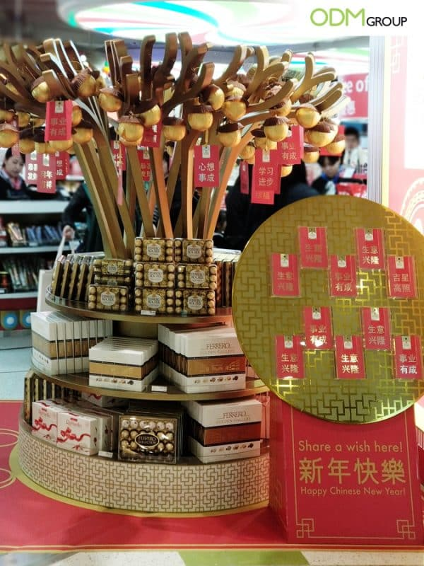 Ferrero Attracts Customers with CNY Custom POS Display