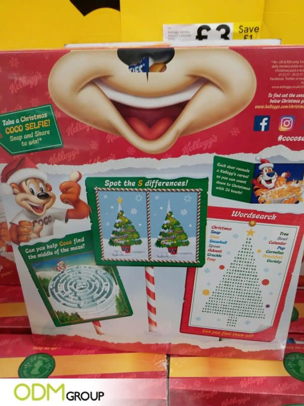 Kellogg's Rocked Fun Advent Calendar Design for Christmas