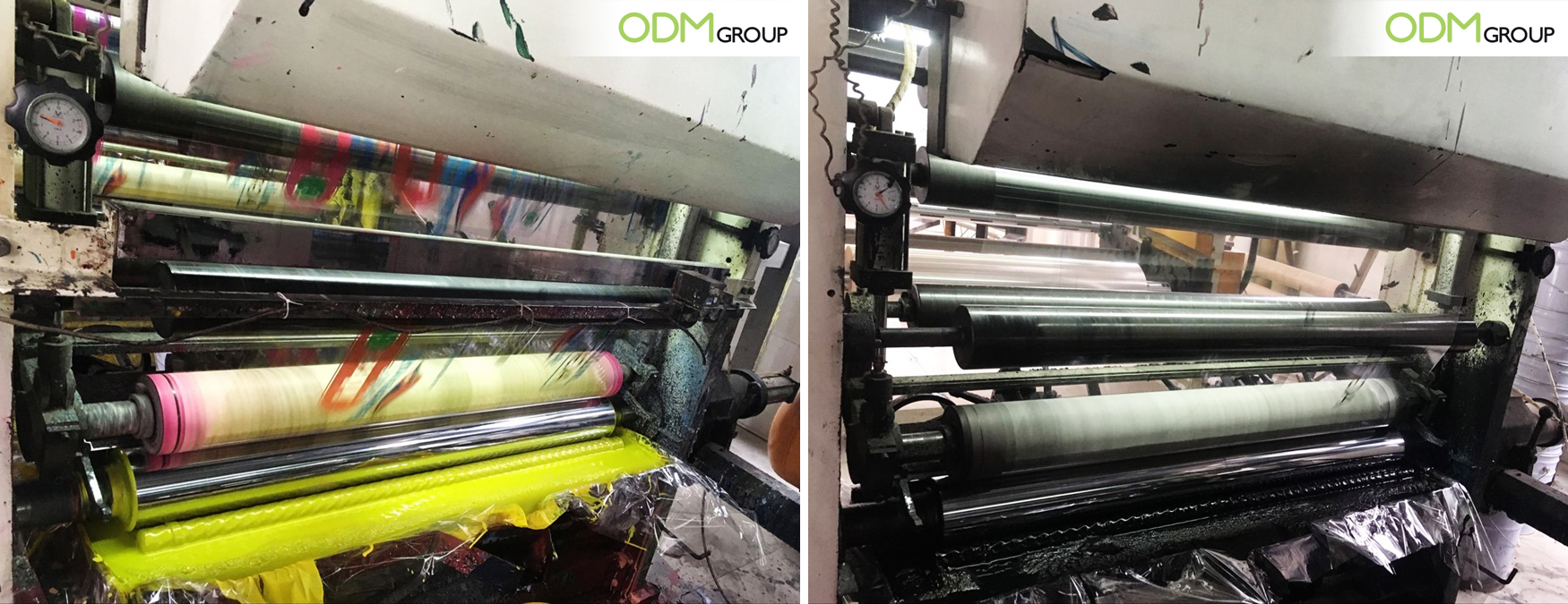 ODM's Patented Reflective Shopping Bags Manufacturing: Ink Box
