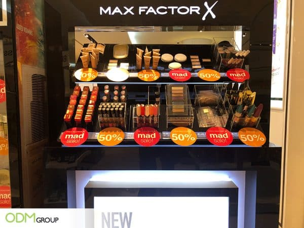Custom Makeup Display by Max Factor Promotes Brand Interaction