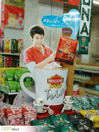 Moccona's Retail Display Standee in Thailand Inspires In-Store Traffic