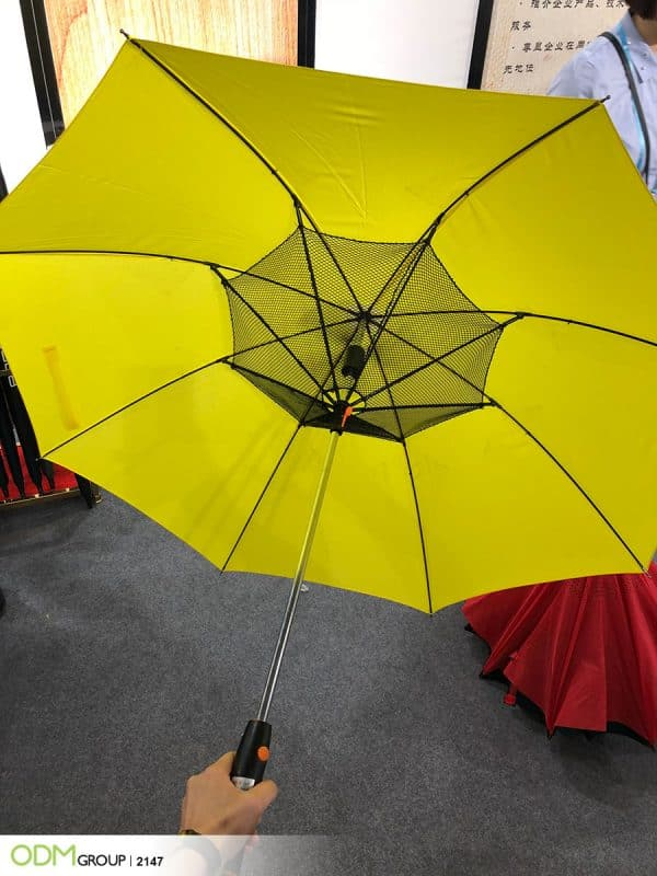 Creative Promotional Fan Umbrella - Trendy Custom Product