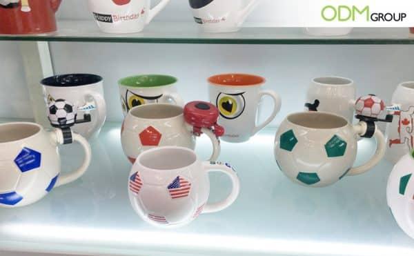 Promotional Football shaped mugs