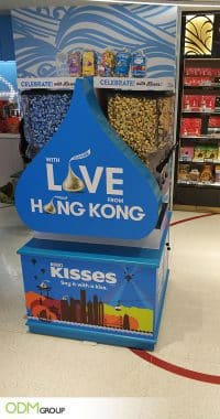 Impressive Custom Vending Machine by Hershey's Kisses
