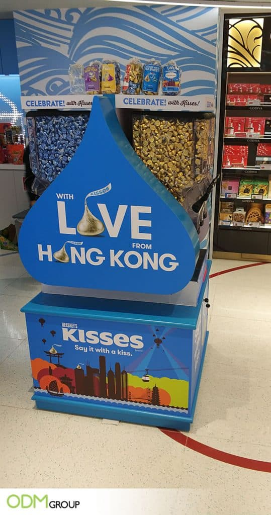Impressive Custom Vending Machine by Hershey's Kisses