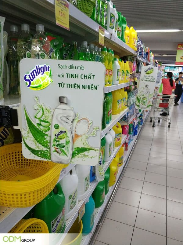 In-store Display: Promotional shelf talkers by Sunlight Vietnam